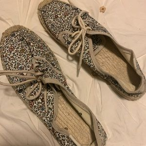 Soludos floral print lace up espadrille